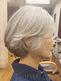 グレイヘアが美しい♪ワンカールボブ