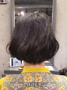 【エアウェーブ】直毛を解消!ふっくらボリューム感じるニュアンスカールボブ