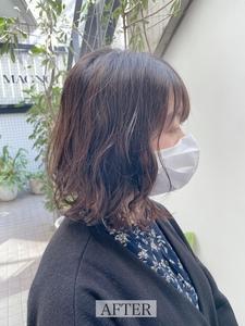 【エアウェーブ】Aラインシルエットの裾パーマ