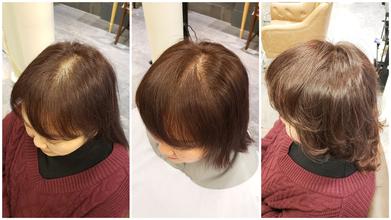 薄毛に悩むロングヘアの女性に贈る「ドレープパーマ」
