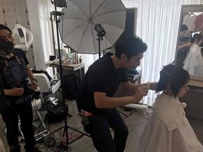 店長DAISUKE 美容業界誌の撮影