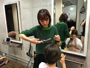 大人髪スタイルの撮影!