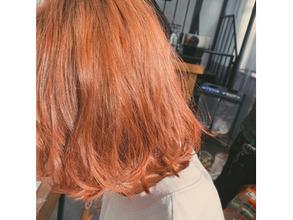 柔らかオレンジヘア☆