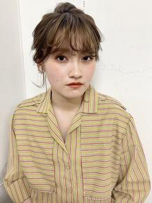 クシャッと前髪×アレンジ