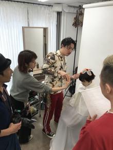 美容業界誌のパーマ撮影