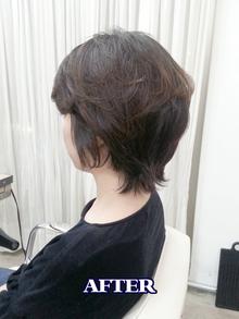 硬く直毛のお客様のパーマ BEFORE&AFTER