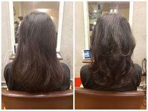 多毛で広がるクセをお持ちのお客様のパーマ BEFORE&AFTER