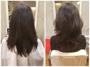 硬く広がりやすい髪質のパーマ BEFORE&AFTER
