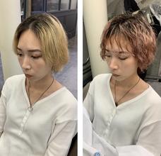 ブリーチ3回の髪の毛にパーマをかけてみました✂︎