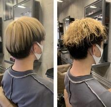 ブリーチ2回の髪の毛にパーマをかけてみました✂︎