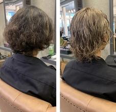 ブリーチ2回した髪の毛にパーマかけました♪